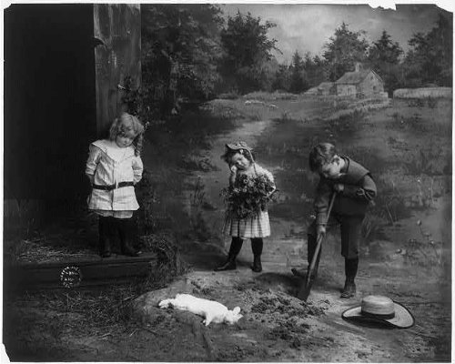 (Infinite Photographs Photo: 3 Children Burying Dead Rabbit,by Fitz W. Guerin)