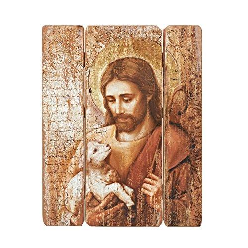 Joseph's Studio Jesus Holding a Lamb Decorative Panel, 26 by 20.25-Inch ()