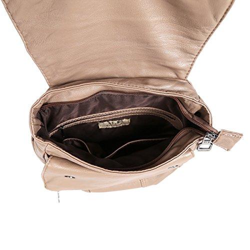 21KBARCELONA - Bolso mochila  de Piel Lisa para mujer marrón