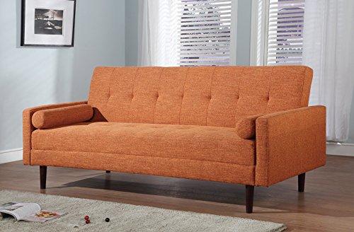 At Home USA – Vitalia Orange Sofa Sleeper