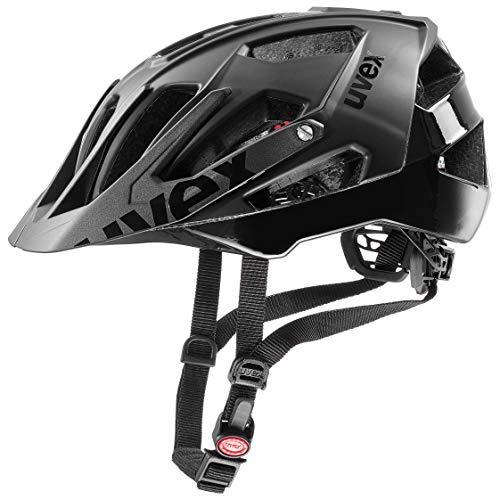 (Uvex Quatro 2019 MTB Bicycle Helmet Grey/Red)