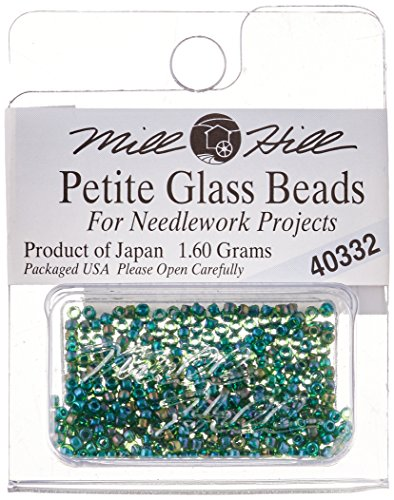 Mill Hill Petite Glass (Mill Hill Petite Glass Seed Beads, Emerald)
