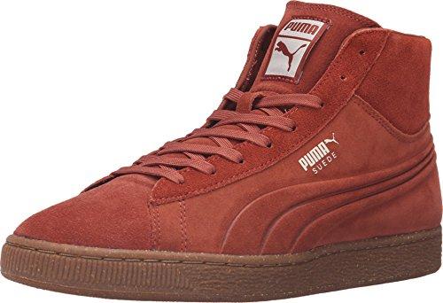 PUMA Men's Suede Mid Emboss Mixed Rubber Arabian Spice/Oatmeal Sneaker 8.5 D (M)
