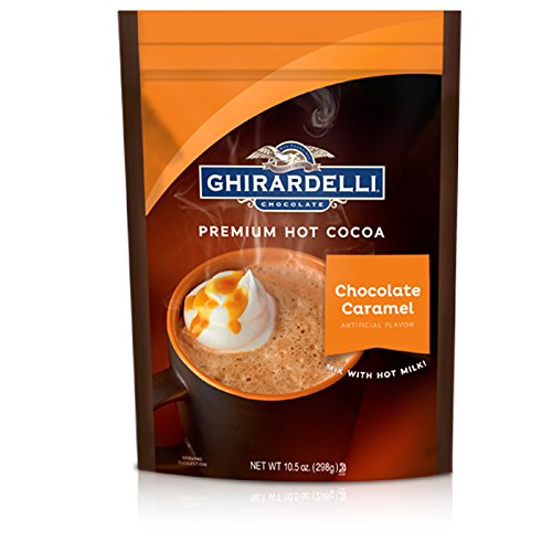 Ghirardelli Hot Chocolate Pouch, Caramel, 10.5 Ounce