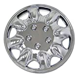 chrysler sebring chrome hubcaps - TuningPros WC-15-1022-C 15-Inches-Chrome Improved Hubcaps Wheel Skin Cover Set of 4