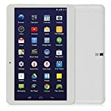 10.6'' Inch smart phone Android WiFi Tablet Phablet with 2 SIM Card Slots Dual Core 3G Phone Tablet pc 1g Ram 16G Rom(White)