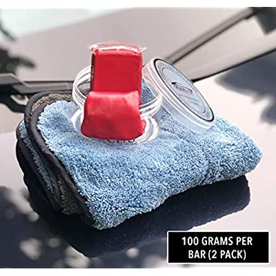 TAKAVU Car Clay Bar 2 Pack 100g, Premium Medium Grade Material, Remove Contamination & Grime with Ease - Auto Detailing Magic Clay Bar Cleaner for Car Wash Car Detailing Tool: Automotive