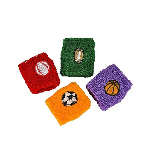 2.75'' Sports Ball Wristbands by Bargain World