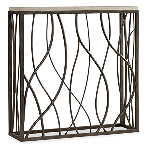 Hooker Furniture 5373-85001 Thin Metal Console, Whites/Cream/Beiges