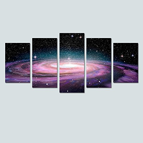 Art Deco Room (Modern Canvas Wall Art for Living Room Space Wall Decor Art Fancy Starry Canvas Prints Ready to Hang Space Bedroom Purple Wall Decor (10