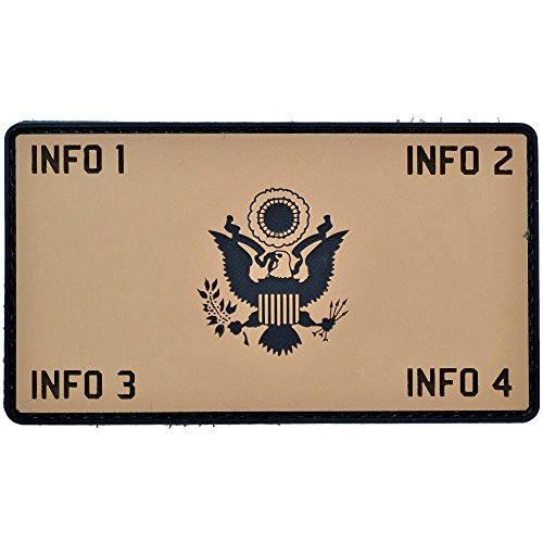 Photo Custom PVC Army Eagle Crest Plate Carrier - 2.25x4 PVC Flak Patch