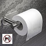 Taozun Toilet Paper Holder 3M Self Adhesive Bathroom Paper Towel Roll Holder Wall Mount, SUS 304 Stainless Steel