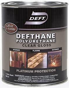 Deft Defthane Interior Exterior Clear Polyurethane Gloss Quart Household Varnishes