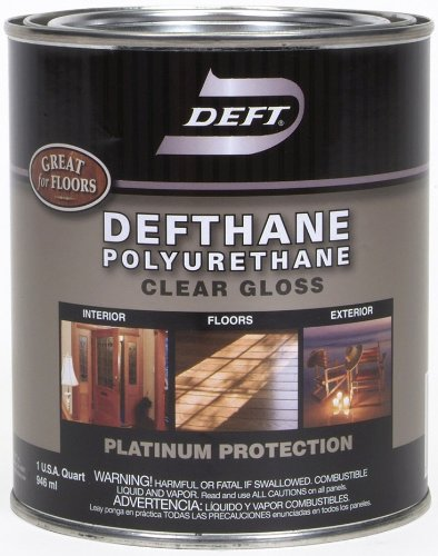 Marvelous Deft Defthane Interior Exterior Clear Polyurethane Gloss, Quart