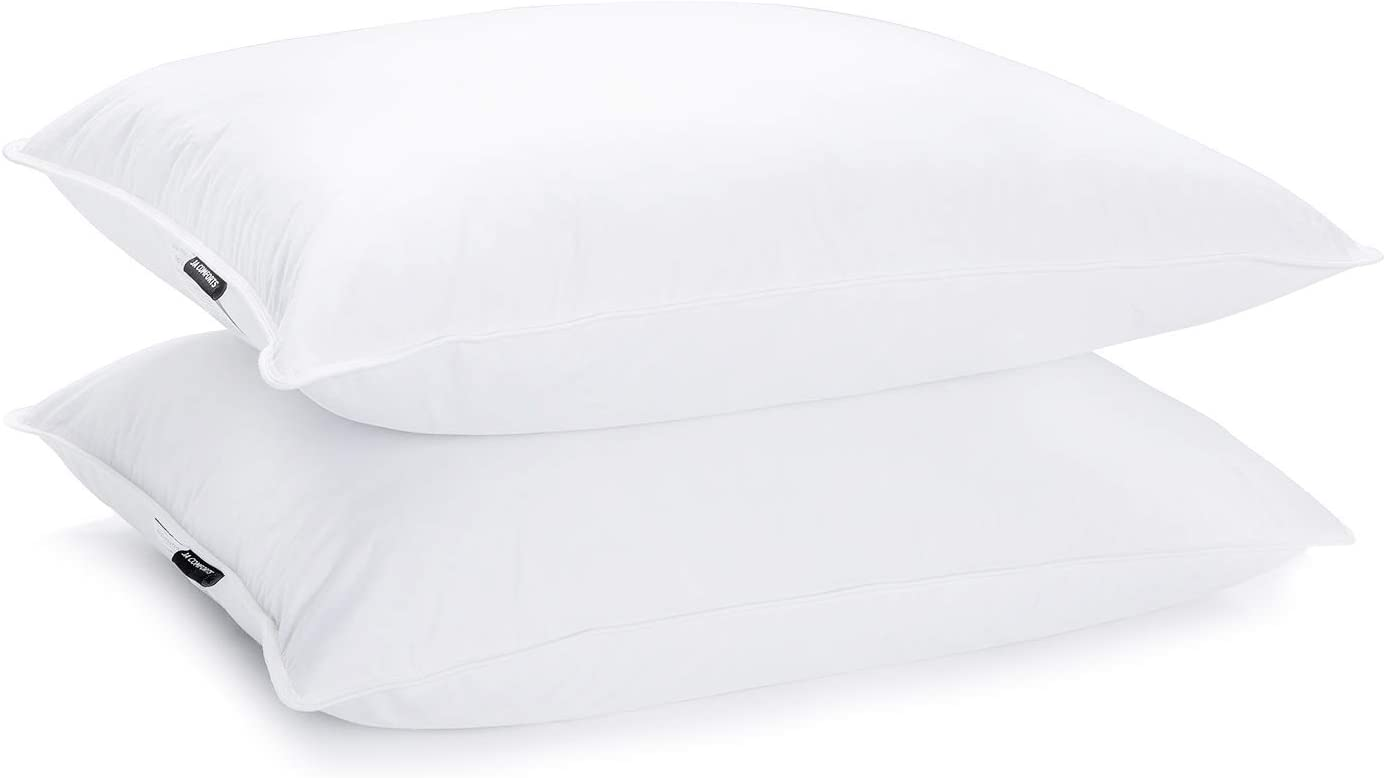 Duck Feather /& Down Pillows Hotel Quality Extra Filled Comfortable Firm Support