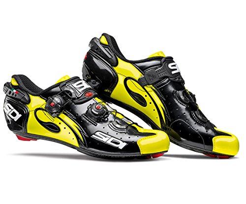 カード高い海洋SIDI(シディ) Wire Carbon Road Cycling Shoes - Black/Yellow Fluo [並行輸入品]