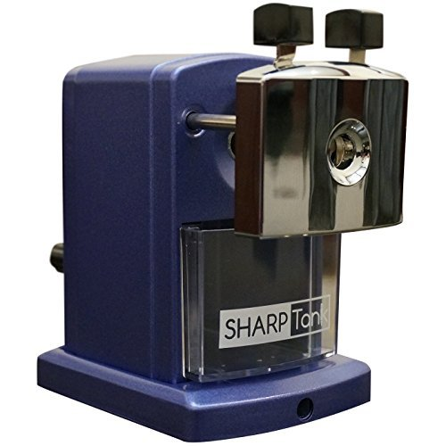 SharpTank Portable Pencil Sharpener (Metallic Plum) | Compact & Quiet Classroom Sharpener That Gets Straight to the Point! by SharpTank