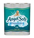 Health & Personal Care : Angel Soft Bath Tissue Regular Roll, White, Unscented, 12-Count