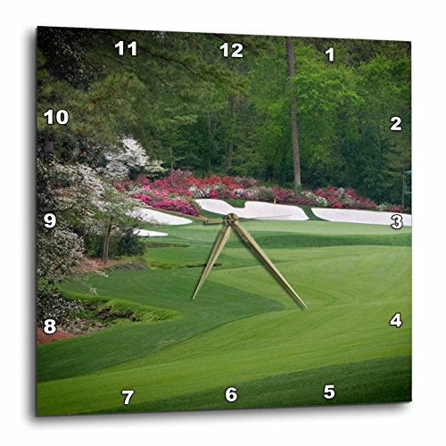 3dRose Augustas Amen Corner Golf Course - Where Dreams Are Made & Lost II - Wall Clock, 15 by 15-Inch (dpp_131408_3) (Augusta Light Fifteen)