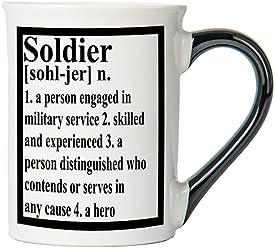 Soldier Mug, Soldier Coffee Cup, Patriotic Mug, Military Gifts By Tumbleweed
