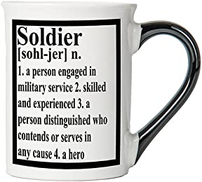 Soldier Mug, Soldier Coffee Cup, Patriotic Mug, Military Gifts By Tumbleweed