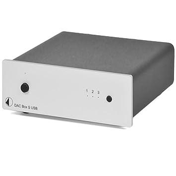 Pro-Ject 28767 DAC Box S - Tarjeta de sonido externa con entrada USB, color plateado