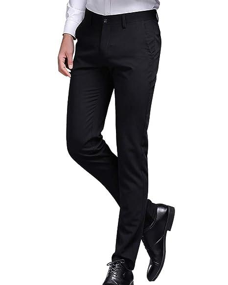 vendita a buon mercato usa più colori meglio Guiran Uomo Pantaloni da Smoking Casual Business Stretch ...