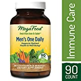 MegaFood - Men's One Daily, Multivitamin Support for Healthy Energy Levels, Prostate Function, Mood, and Bones with Zinc and B Vitamins, Vegetarian, Gluten-Free, Non-GMO, 90 Tablets