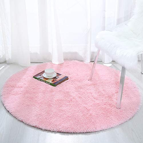 Softlife Fluffy Soft Round Bedroom Rugs 6 x 6 Feet Shaggy Circle Area Rug