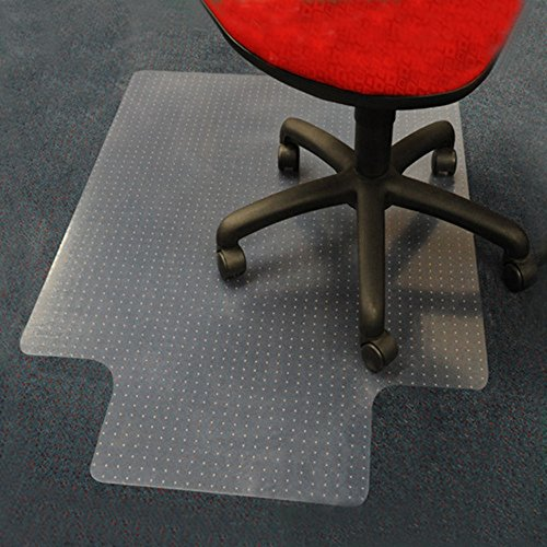 Rectangular Hardfloor Carpet Chair Mat With Lip Anti Static Floor Mats For