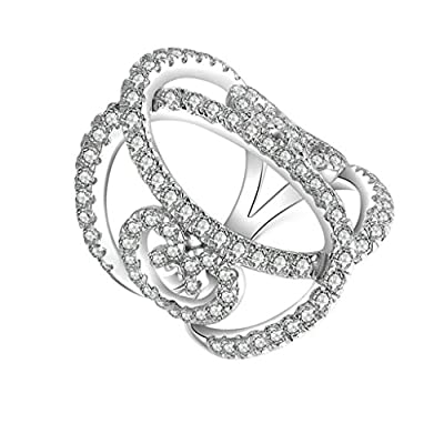 anillo de plata con mariposa cubic
