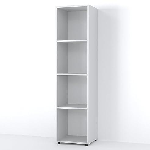 Bücherregal weiß schmal  VICCO Raumteiler LUDUS 4 Fächer 142 x 36 cm - Standregal ...