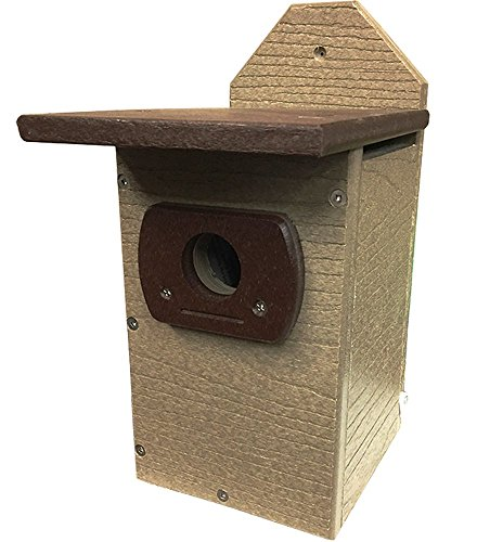 JCs Wildlife recycled Lumber Brown & Brown Standard Bluebird House (Coveside Eastern Bluebird House)