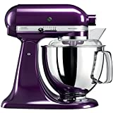 KitchenAid Artisan 5KSM175PSEPB 5 Qt.Stand Mixer Plumberry with TWO Bowls & Flex Edge Beater 220 VOLTS NOT FOR USA