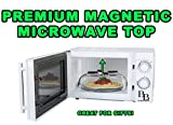The Beard Brothers Premium Magnetic Microwave Plate Cover Fits Large And Small Plates. 11.81 in X 3.34 in. BPA FREE. Top Rack Dishwasher Safe. Magnets Work On METAL TOP MICROWAVES ONLY!.