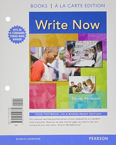 Write Now, Books a la Carte Plus MyCompLab -- Access Card Package