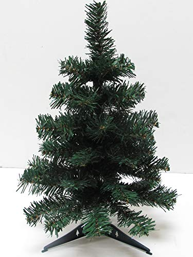 Dobar Holiday Essentials Tabletop Xmas Tree - 12 Inch Artificial Pine Tree with PVC Base