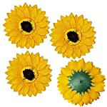 Supla-30-Pcs-Fake-Sunflower-Artificial-Small-Sunflower-Heads-in-Yellow-35-L-X-35-W-for-Sunflower-Wedding-Fall-Autumn-Party-Floral-Wreath-Accessories