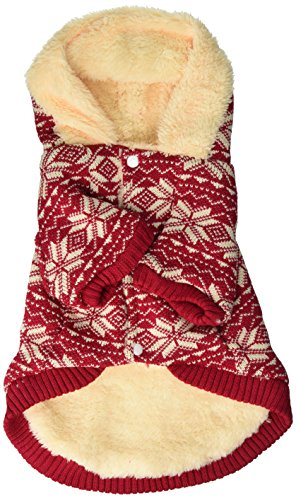 Anima Red Snowflake Hoodie for Pets, Large