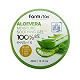 Facial Rash On One Side Of Face - Farm Stay - Aloe Vera Moisture Soothing Gel 300 ml for men and woman - 100% Aloe Vera for dry skin - Facial Treatment - Moisturisers - Day Care - Gels