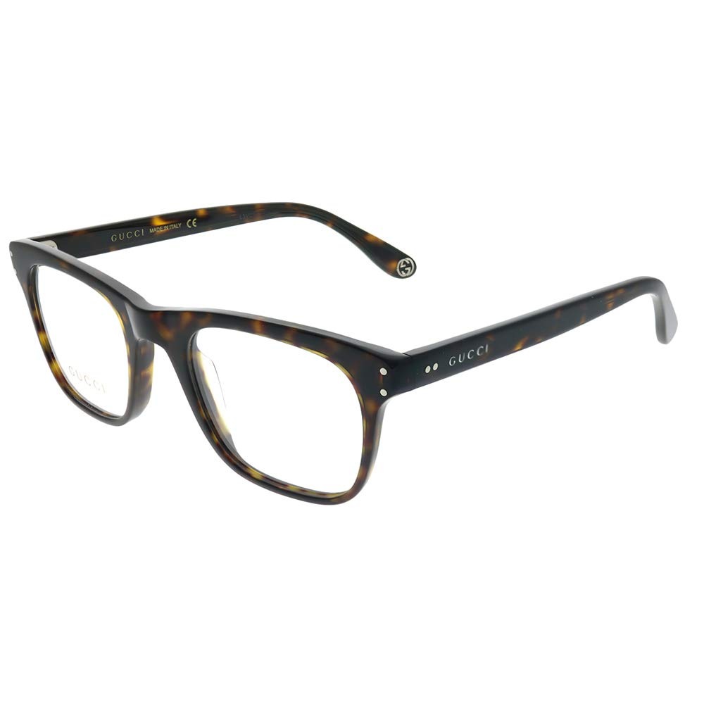 Gucci Gucci Logo GG 0476O 007 Havana Plastic Rectangle Eyeglasses 51mm by Gucci