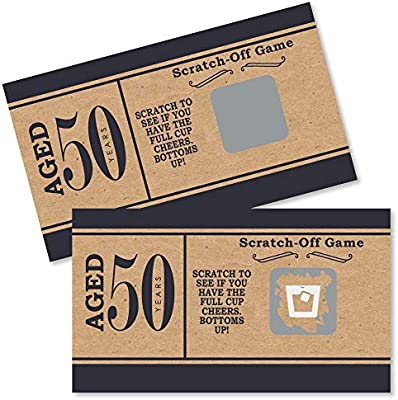 50th Birthday Party Games.50th Milestone Birthday Dashingly Aged To Perfection Birthday Party Game Scratch Off Cards 22 Count