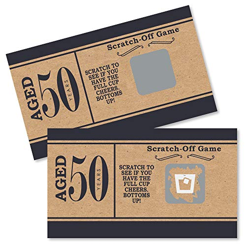 50th Birthday Games (50th Milestone Birthday - Dashingly Aged to Perfection - Birthday Party Game Scratch Off Cards - 22)