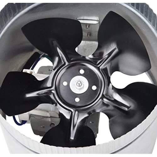 6 Inch Fan Duct Inline 260CFM Booster Exhaust Cooling Air System PC Blower Aluminum Blade Tool Cooler high-quality