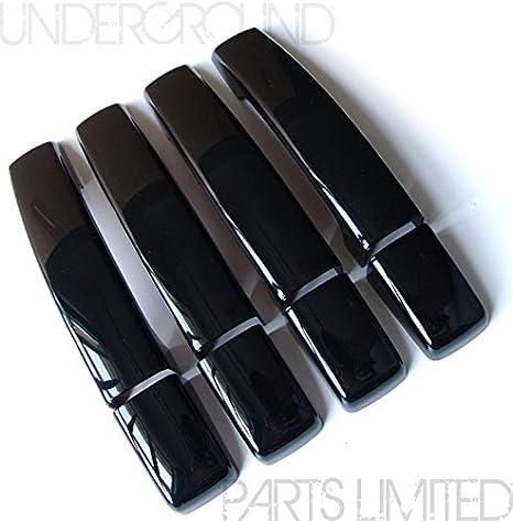 Underground Parts L-RA-02 Juego de embellecedores para manijas de puertas, diseño elegante, negro satinado: Amazon.es: Coche y moto