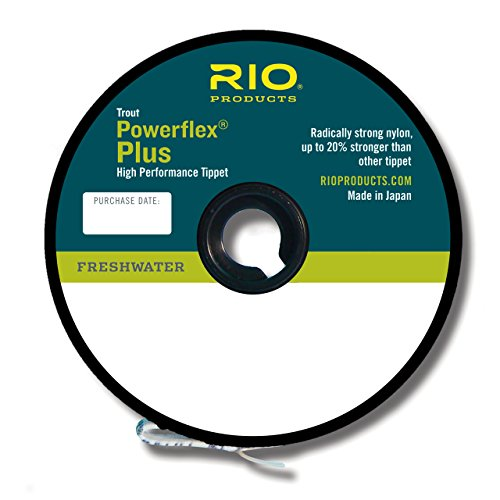 RIO Fly Fishing Tippet Power flex-Plus 6X-Tippet 50yd Fishing Tackle, (Fly Line Tippet)