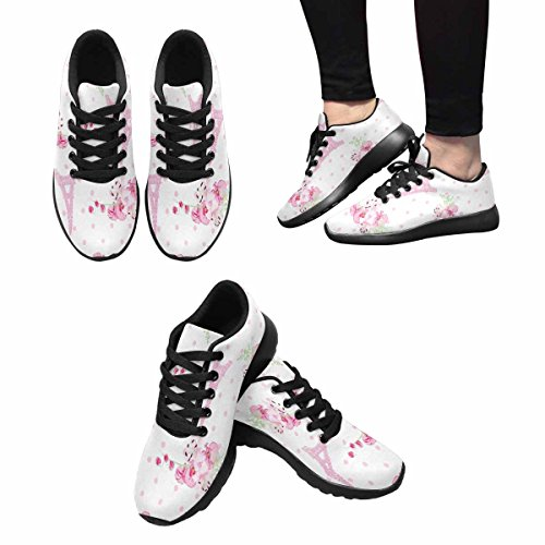Interestprint Womens Jogging Running Sneaker Leggero Go Easy Walking Comfort Sport Scarpe Da Corsa Cute Paris Ispirato Stampa Multi 1