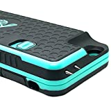 The Only High-Powered Stun Gun that Protects & Recharges Your iPhone 6/6s - Concealed Inside a Durable Weatherproof Case - Flexibility to Attach/Detach - 4.0mAh for Maximum Self Defense - Teal