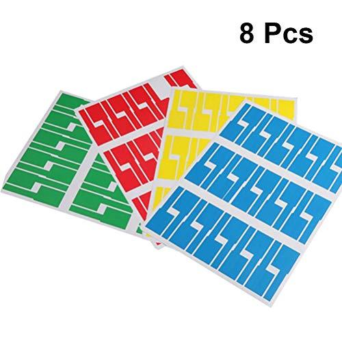 Healifty Etiquetas Autoadhesivas para Cables Etiquetas Etiquetas de Precio en Papel Pegatinas Adhesivas manuscritas 8 Piezas