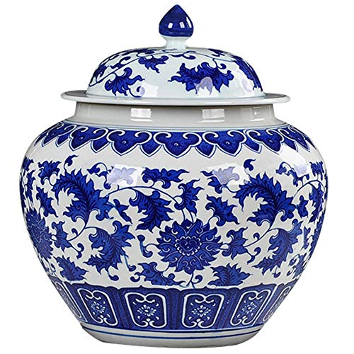 - QINYA,Cremation Urns for Ashes,Funeral Urns for Human Ashes,Hand Made in Blue and White Porcelain and Hand Engraved,Long-Term Storage,Not Easy Wear and Tear (30x25cm)